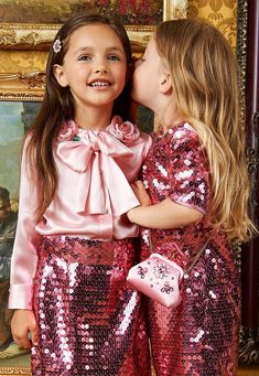 Girls and Boys' Collection Dolce And Gabbana Kids, Photographing Kids, Festival Party, Girls Accessories, Kids Outfits, Sequin Skirt, Kids Fashion, Party Dress, Sugar Candy