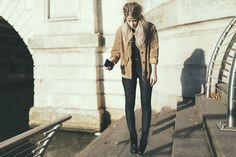 Vintage Jacket, Tk Maxx Leggings, Jeffrey Campbell Boots
