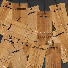 Wooden Calendar Bookmarks