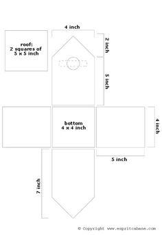 Printable Bird House Plans | Bird house, esprit cabane, pretty recycling crafts