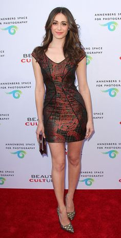 """Emmy Rossum In Monique Lhuillier – """"Beauty Culture"""" At The Annenberg Space For Photography Opening Night 2011"""