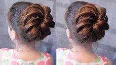 Причёска - шишка из жгута