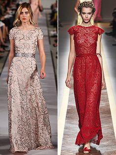 Absolutely love the Valentino red dress along with the hair!!