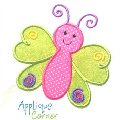 VERY cute butterfly applique