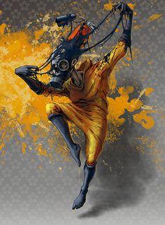Yellow mess...