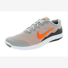 Nike Flex Experience Run 4 Mens 749172-003 Grey Orange Running Shoes Size 9
