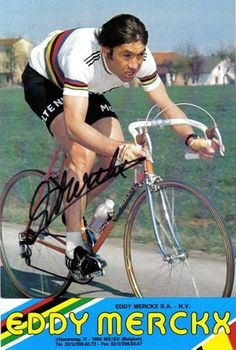 Palmarès d'Eddy Merckx (Bel) No helmet required. To fast to crash. Velo Vintage, Vintage Cycles, Pro Cycling, Cycling Bikes, Bicycle Tattoo, Road Bikes, Wheeling, Catapult, Cyclists