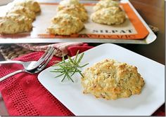 rosemary cheddar bacon biscuits! But maybe without the bacon for my vegetarian friends.