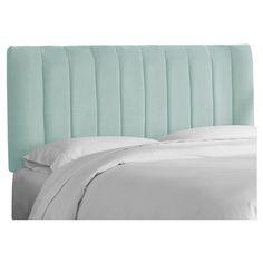 Lennon Upholstered Channel Seam Headboard - Full - Pool Velvet - Skyline, Poll Velvet