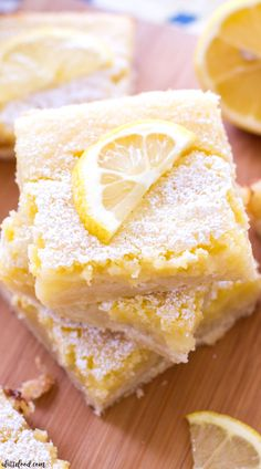 These classic homemade lemon bars have a tangy lemon filling and a sweet shortbread crust! These are the perfect Easter dessert, spring dessert, or summer dessert!
