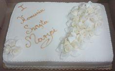 krem plus lukrowe kwiaty i napis