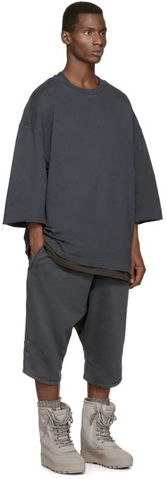 YEEZY Season 1 Grey Sarouel Shorts