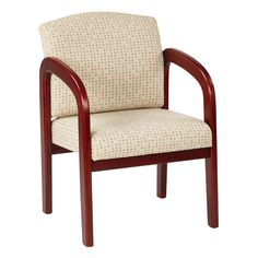 Ivory Visitor Chair With Cherry Wood