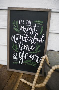This December Sign for The Most Wonderful Time of the Year is perfect for your Mantle, Porch or anywhere you choose for your Christmas Decorations. Christmas Chalkboard, Christmas Signs Wood, Rustic Christmas, Winter Christmas, Vintage Christmas, Christmas Holidays, Primitive Christmas, Cowboy Christmas, Primitive Fall