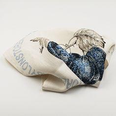 Delft design reimagined in the shape of a gooseberry. Linen Napkins, Delft, Tea Towels, South Africa, Pattern, Blue, Shape, Design, Dish Towels