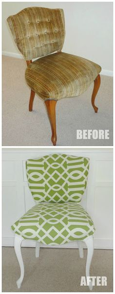 Upholstery Tips & Tricks | LiveLoveDIY....great blogger