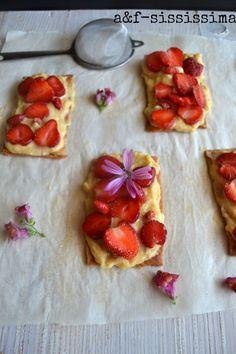 acqua e farina-sississima: crostata a fette con fragoline di bosco