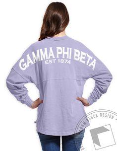 Gamma Phi Beta - Derby Jersey (Lavender) by ABD BlockBuy! Adam Block Design | Custom Greek Apparel & Sorority Clothes |www.adamblockdesign.com