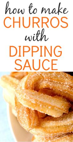 Mexican food recipes 17451517295190169 - How to Make Churros Recipe dessert with Dipping Sauce Source by lindseylatt How To Make Churros Recipe, Homemade Churros Recipe, Mexican Food Recipes, Cookie Recipes, Dessert Recipes, Rice Recipes, Bread Recipes, Baking Recipes, Easy Recipes