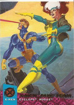 1994 Fleer Ultra x Men Trading Card 114 x Men Blue Team Cyclops Rogue | eBay