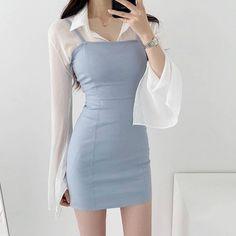 Korean Fashion Dress, Ulzzang Fashion, Kpop Fashion Outfits, Girls Fashion Clothes, Korean Outfits, Girly Outfits, Cute Casual Outfits, Cute Fashion, Asian Fashion