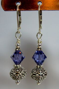 Crystal Oasis Earrings by Seven Blue Designs on Etsy...I could so make these...in whatever color I want!