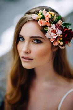18 Gorgeous Blooming Wedding Hair Bouquets ❤ See our gallery of blooming wedding hair and be inspired! See more: http://www.weddingforward.com/blooming-wedding-hair-bouquets/ #weddings #hairstyles