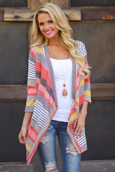 I love this cardigan because of the colors.  It seems like an easy thing to throw on on a Saturday and look put together and stylish without trying too hard.