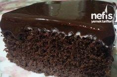 Islak Sünger Pasta. Zevk alarak yaptığım pastalardandır.(ÇİKOLATA SOSLU KEK