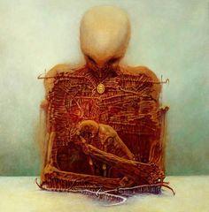 Zdzislaw Beksinski Gallery: The surreal masterpieces Arte Horror, Horror Art, Arte Obscura, Macabre Art, Visionary Art, Gothic Art, Fantastic Art, Surreal Art, Dark Art