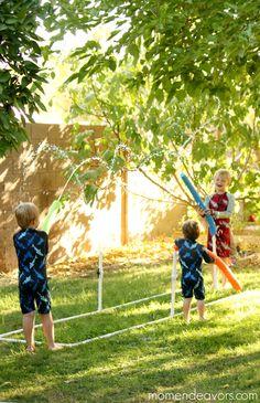DIY Water Blaster Kid Sprinkler - fun summer activity