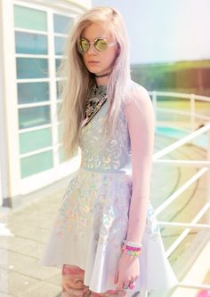 We're big fans of über blogger Tavi and her new project, Rookie. We're really excited that our jewellery appears in their latest dreamy fashion shoot, Summer Is Ready When You Are. Spot our Mint Crystal Crown Necklace and get the Rookie look here: http://www.tattydevine.com/crystal-crown-large-necklace-mint.html
