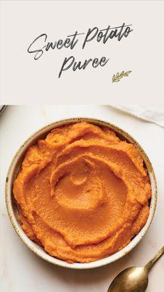 Sweet Potato Recipes Healthy, Baby Food Recipes, Vegetarian Recipes, Fall Vegetables, Veggies, Vegetable Dishes, Vegetable Recipes, Potato Puree, Baby Puree