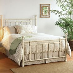 Another great wrought iron bed frame. Tons of colors and finishes available.