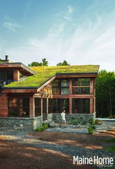 another Maine green roof, I like them and I'm worried about them all at the same time, I know they have then in scandinavia to, so they must be fine with snow.