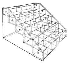 "Extra-Large Bin, five trays 20 1/4"" H x30 1/4"" W x29 1/2""D"
