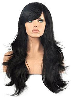 Diy-Wig Long Black Straight Layered Wigs with Side Bangs ... https://www.amazon.com/dp/B01BEXD8M8/ref=cm_sw_r_pi_dp_x_wXF3xb4STGWYK