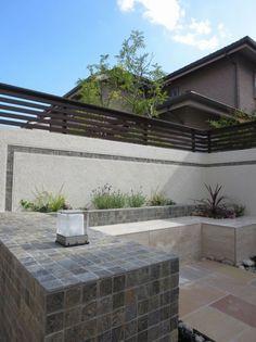 ガーデン施工事例 / アウトドアリビング、自然石、奈良県奈良市、ガレージリフォーム、花壇
