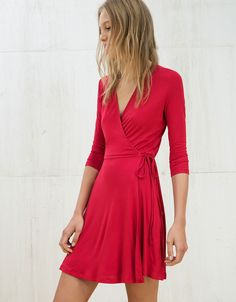 3/4 sleeve ballerina dress. Discover this and many more items in Bershka with new products every week