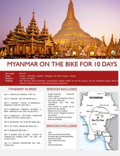 Myanmar on the bike for 10 days by Threeland Travel via Slideshare