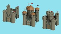 """Forged Victory"" - Android game (Low-Poly Art style) on Behance"