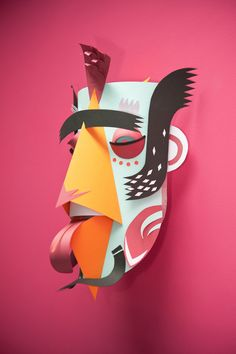 Hand made carnival masks by Ink Studio