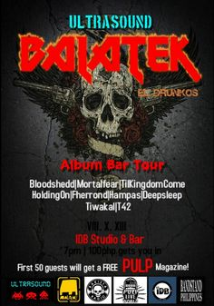 "« ULTRASOUND x EL DRUNKOS x PULP: ""BALATEK Album Launch"" THE BAR TOUR! Aug.10 @Ivey Biddle »"