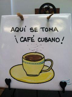 Aqui se toma Cafe cubano. Mi gente! Café Cubano, Cuba People, Cuban Cafe, Miami Street, Coffee Around The World, Love Cafe, Cuppa Joe, Good Excuses, Rite Of Passage
