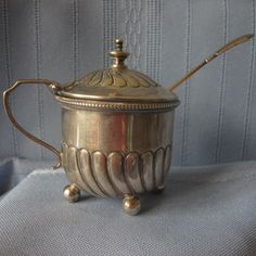 Victorian Silver Mustard Pot and Spoon 1893