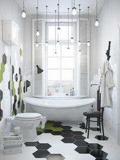 salle de bain carreaux hexagonaux - Recherche Google