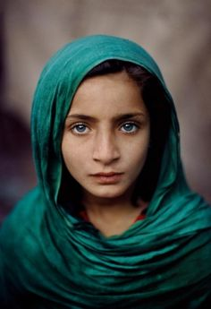 """Girl With Green Shawl"" Pakistan, Steve McCurry"