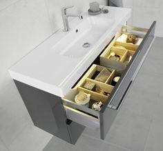 Dasani Menute washbasin with plenty of storage space.