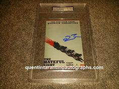 My Quentin Tarantino Autograph Collection: My The Hateful Eight Collection Already Started Wi...