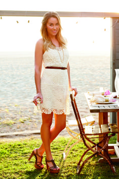 Lauren Conrad Southern Look: Lace and Browns LOVE THIS